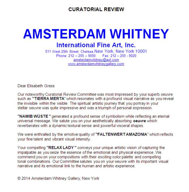 AMSTERDAM WHITNEY-Bewertung